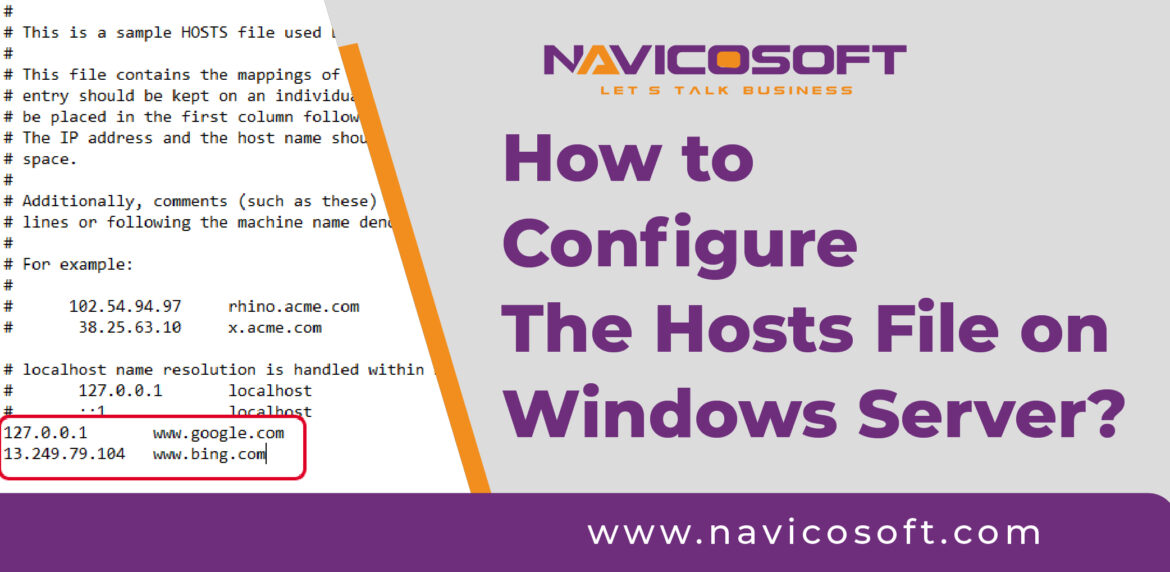How to configure the Host File on Windows Server?